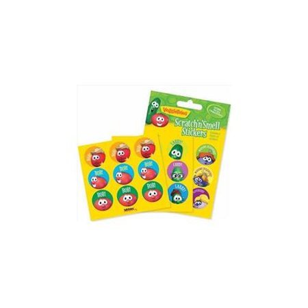 Sticker-Veggie Tale Scratch & Smell (Pack of 54) ()