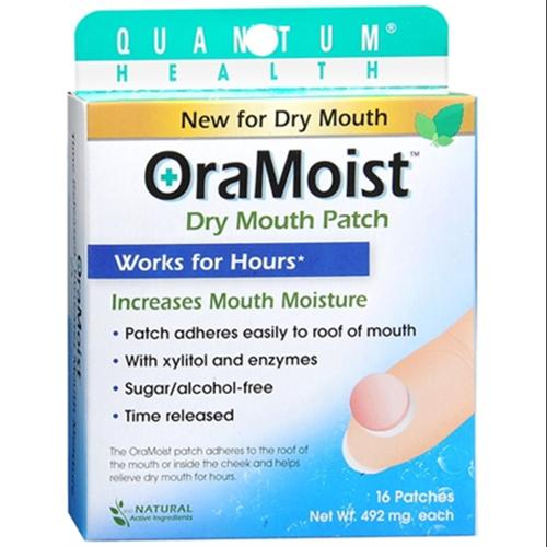 Dentek OraMoist Time-Released Dry Mouth Discs Natural Fruit Flavor 16 Each (Pack of 6)