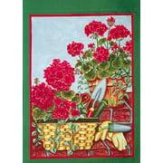 Garden Tool Geraniums Spring Garden Flag