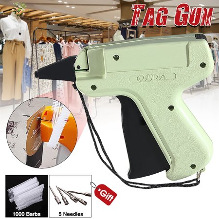 Clothes Garment Price Label Tagging Tags Gun Hine with 1000 Barbs + 5 Needles for Clothes Sock Package Includes: 1 x Tagging Gun 5 x Steel Needle 1000 x Plastic pin Features: 1. Tag attaching gun, with steel needle and plastic pin. 2. Use in attaching barcode or price tags to clothing. 3. Simple use, smaller more comfortable grip, druable. 4. Save manpower, reduces the cost. Specifications: Material: Plastic and metal Gun Weight: About 130g Length Of Plastic Pin: 50mm NOTE: Please allow some errors of manual measurement, thank you for your understanding!