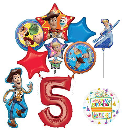 Mayflower Products Pirate 5th Birthday Party Supplies Balloon Bouquet