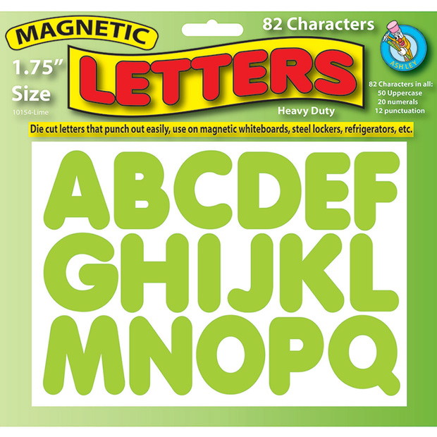 Magnetic Letters Lime Green 1.75""
