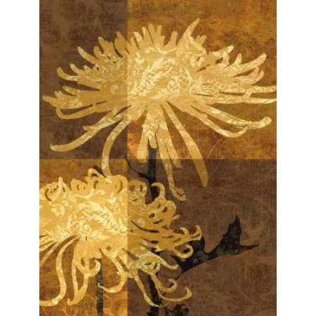 Golden Mums II Rolled Canvas Art - Keith Mallett (9 x 12)