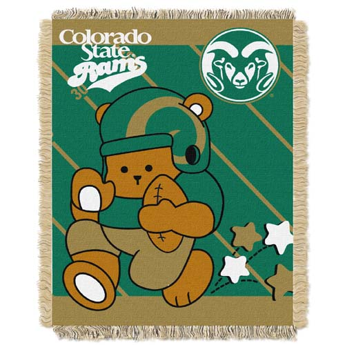 Colorado State Jacquard BABY Throw Blanket