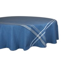 """Design Imports Contemporary Round French Chambray Kitchen Tablecloth, 70"""" x 70\ by Design Imports"""