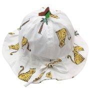 nomeni (6-18 months)Kids Summer Cartoon Animals Sun Protection Hat Sunscreen Cap For Girls Boys