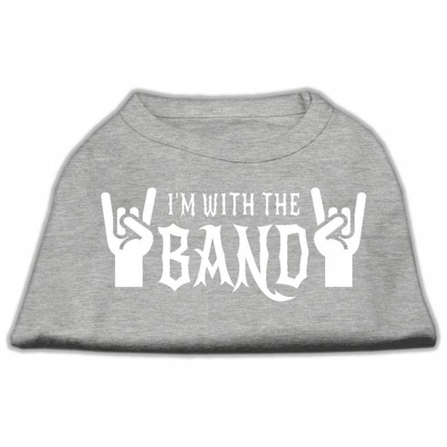 With The Band Screen Print Shirt Grey Xxl (18) - image 2 of 2