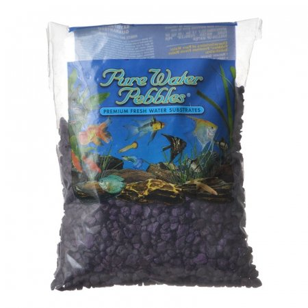 Pure Water Pebbles Aquarium Gravel - Purple