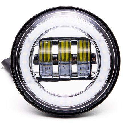 "Krator Black 2x 4.5"" LED Spot Fog Passing Light Angel DRL for Harley Davidson CVO Softail Deluxe FLSTNSE 2014-2015 - image 8 de 9"