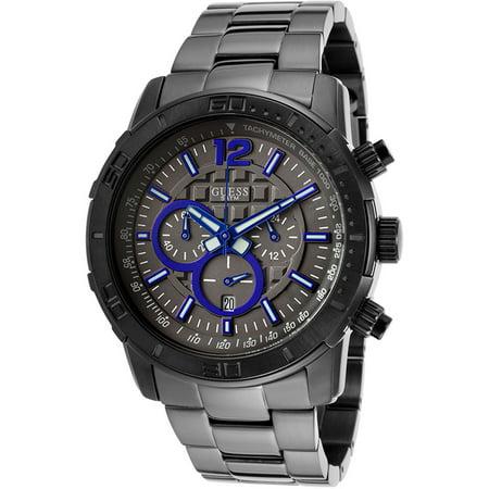 STEEL W22521G1,Men's Chronograph,Stainless Steel Case,Screw Crown,date,100m WR Big Crown Pointer Date Watch