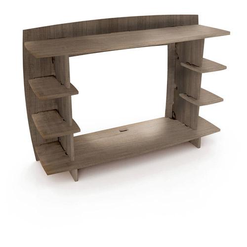 Legare Furniture 36 Inch Desk Hutch Grey Driftwood