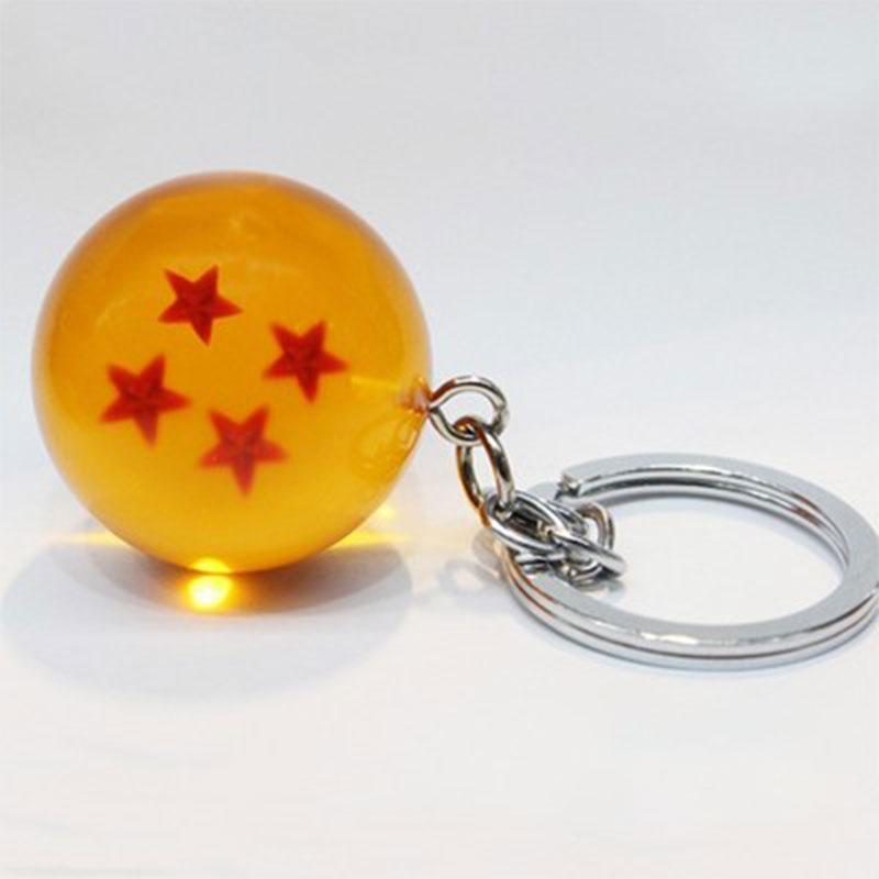 1 piece Goku Dragon Ball Super Keychain 3D 1-7 Stars  Crystal Ball Keychain