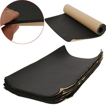 6pcs Car Auto Van Sound Proofing Deadening Heat Insulation Self Adhesive Foam Sheet Mat Vehicle Deadening Material