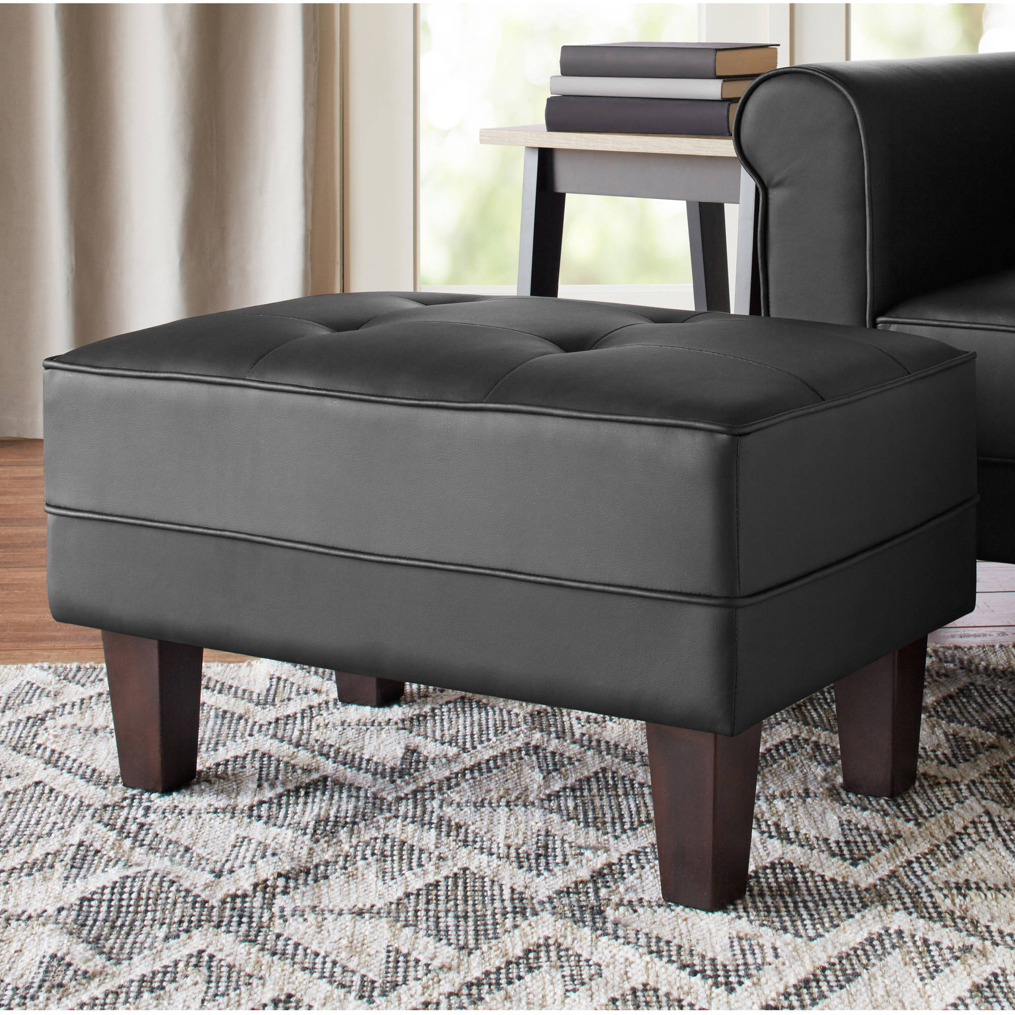 Image of 10 Spring Street Ashton Faux Leather Ottoman