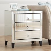 Crestview Collection Bentley Beveled Mirrored 3-Drawer Chest