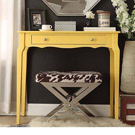 Modern Cottage Wood Narrow End Sofa Console Accent Table