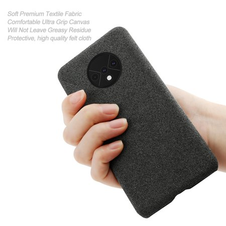 TORUBIA Case for OnePlus 7T {Fully Protective Shockproof dustproof & Screen Protection}Ultra Thin Hard PC Woven Design Anti-scratch Phone Protector Black - image 7 of 7