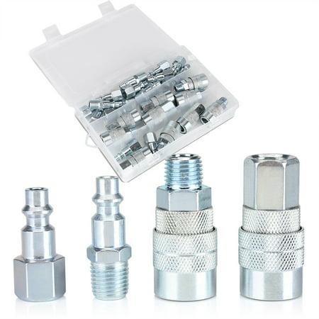30pcs/set Quick Coupler Plug Set Male/Female Air Hose Connector Fittings 1/4 NPT, Coupler Air Hose Set, 1/4 NPT Coupler Set