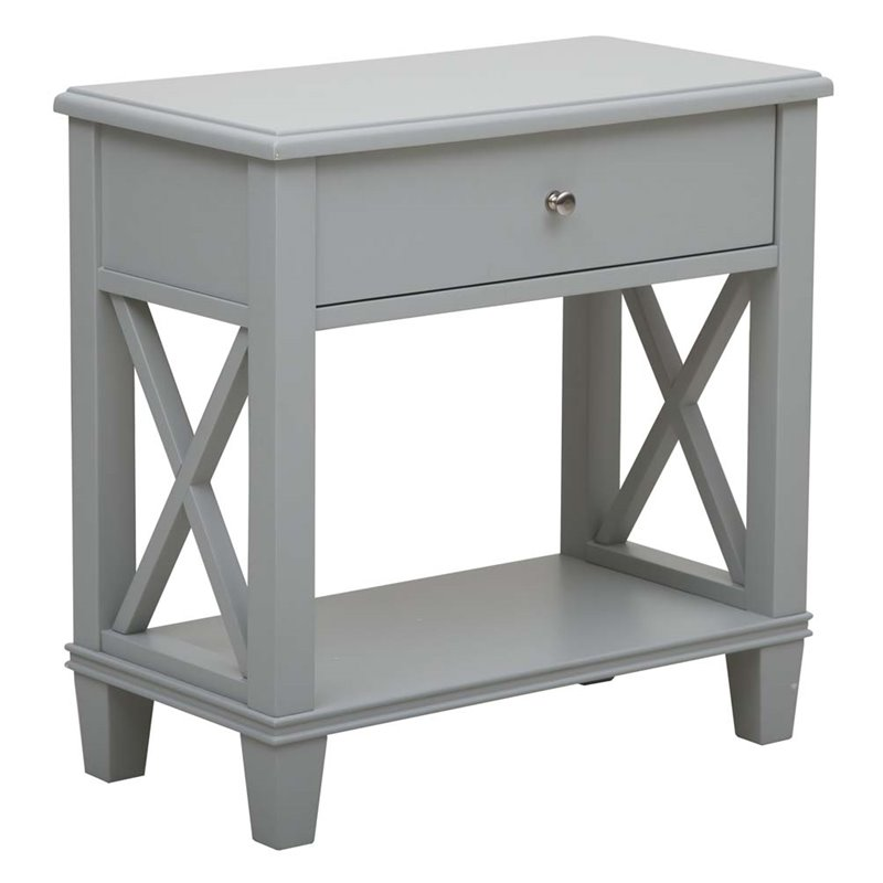 Right2Home Gray Open X Leg Side Table