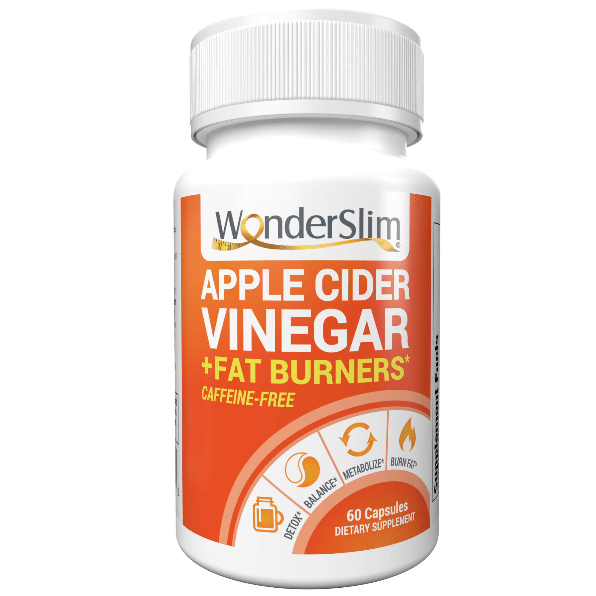 WonderSlim Apple Cider Vinegar Capsules + Fat Burner ...