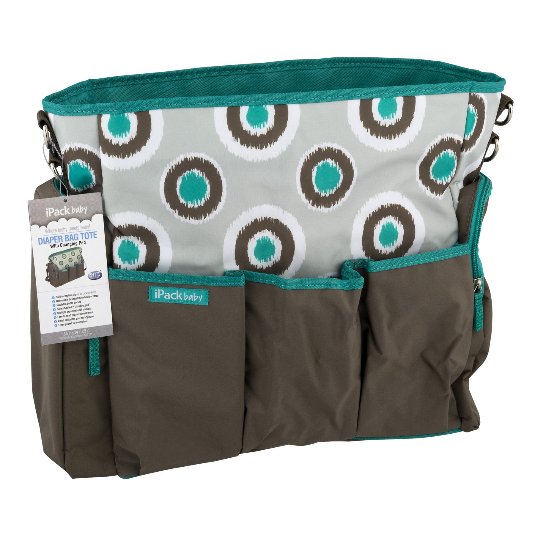 iPack Baby Diaper Bag Tote iKat Design, 1.0 CT