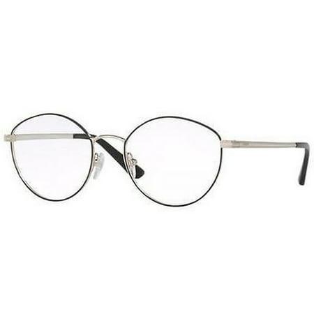 Vogue Women's VO4025 352 53 Cateye Metal Black Clear Eyeglasses ()