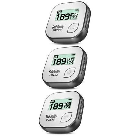 Golf Buddy Voice 2 Talking GPS Range Finder Rechargeable Watch, Grey (3