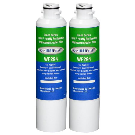 Replacement Water Filter For Samsung RF4287HARS Refrigerator Water Filter by Aqua Fresh (2 Pack) (Rf4287hars Xaa Water Filter)
