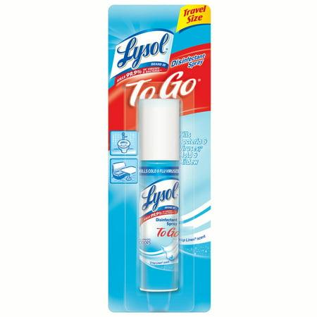 Lysol Crisp Linen Disinfectant Spray To Go - 1oz