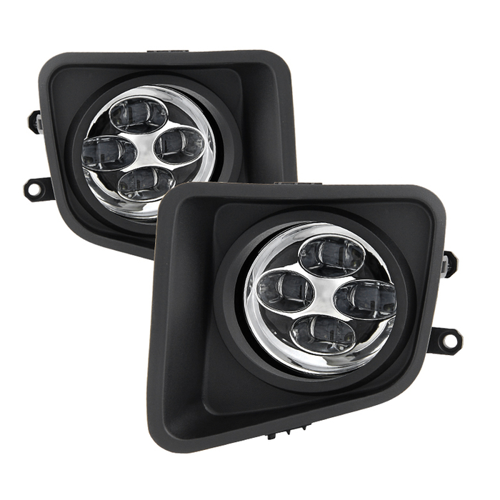 Spyder Toyota Tundra 2014-2016 Daytime DRL LED Running Fog Lights w/Switch - Clear