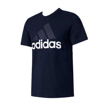 Adidas Men's Short Sleeve Essential Logo Graphic Crew Neck T-Shirt Adidas Nba Swingman Short