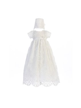 7531d3321a Product Image Baby Girls White Embroidered Tulle Bonnie Hat Christening  Dress