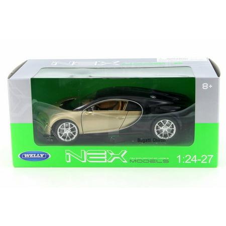 Bugatti Chiron   Gold W  Black   Welly 24077W Gld   1 24 Scale Diecast Model Toy Car