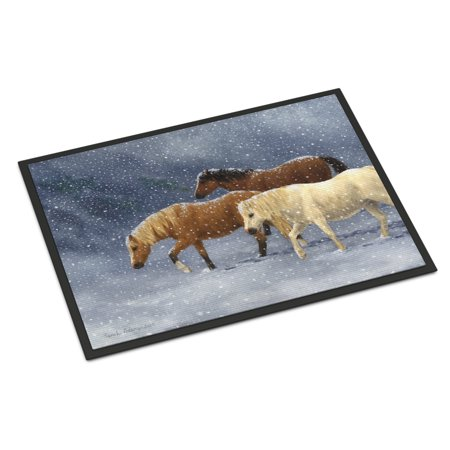 Seeking Shelter Horses Door Mat