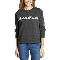 Eddie Bauer Women's Camp Fleece Logo Crewneck Sweatshirt - Easy