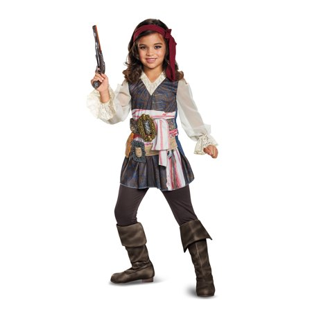 Pirates of the Caribbean Movie 5 Girls Captain Jack Sparrow Pirate Costume (Pirates Of The Caribbean Jack Sparrow Costume)