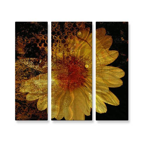 Abstract Daisy Metal Wall Art - 28W x 23.5H in.