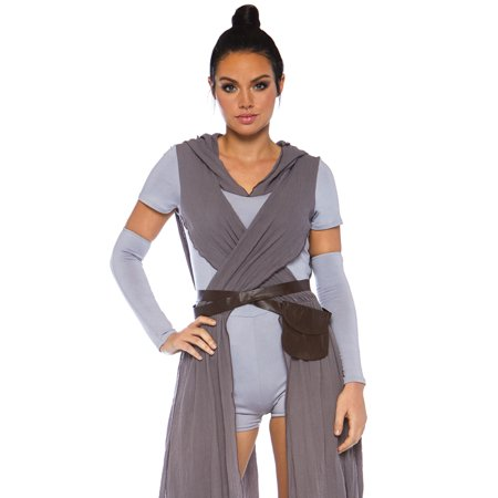Leg Avenue Women's 2 PC Rey Galaxy Rebel Costume, Grey, - 50 Shades Of Grey Costume Ideas
