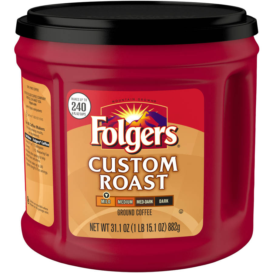 Folgers Custom Roast Mild Ground Coffee, 31.1 oz