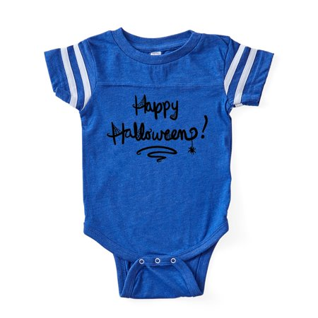 CafePress - Cute Happy Halloween Text - Cute Infant Baby Football Bodysuit