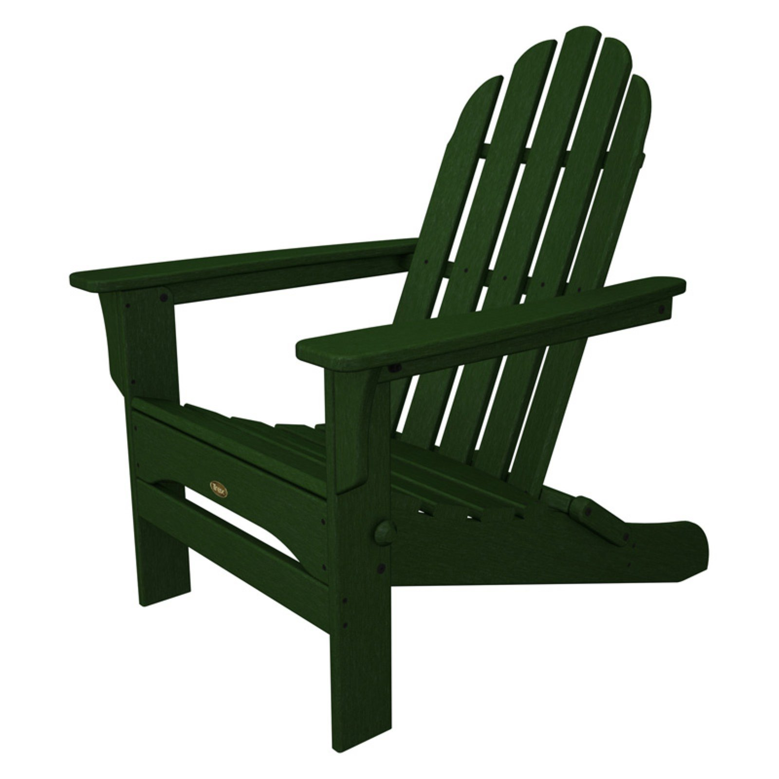 Beau Trex Outdoor Furniture Recycled Plastic Cape Cod Folding Adirondack Chair