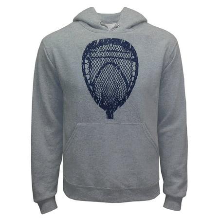 Zone Apparel Lacrosse Men's Goalie Head Hoodie Sweatshirt Small Grey