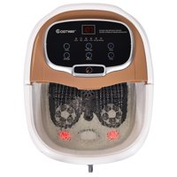Costway Portable Foot Spa Bath Motorized Massager Electric Feet Salon Tub w/ Shower GreyBlue