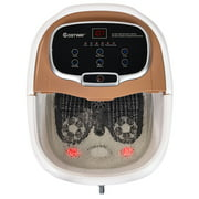 Costway Portable Foot Spa Bath Motorized Massager Electric Feet Salon Tub w/ Shower GreyBlue