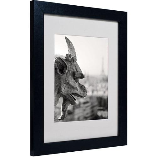 """Trademark Fine Art """"Gargoyle Paris"""" Matted Framed Art by Pierre Leclerc"""