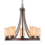 Golden 1051-5 SBZ Five Light Chandelier
