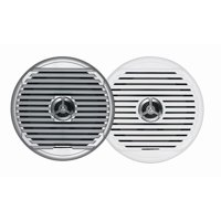 "Jensen Marine 6-1/2"" High Performance Coaxial Marine Speakers With White and Silver Grills, Sold as Pair"