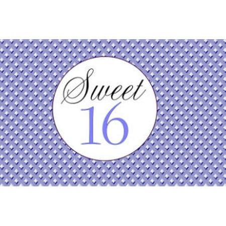 Sweet 16 - 16th Birthday Edible Cake Decoration Photo Image Cake Topper - Purple