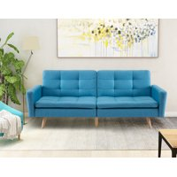 Product Image Harper Bright Designs Entertainment Upholstered Futon Sofa Bed Multiple Colors
