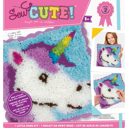 Sew Cute! Latch Hook Kit-Unicorn (Latch Hook Instructions)
